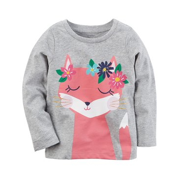 Carter's Baby Girls' Long Sleeve Tee, Fox