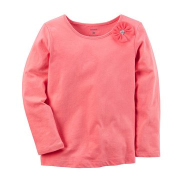 Carter's Baby Girls' Long Sleeve Tee, Bow