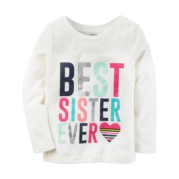 Carter's Baby Girls' Long Sleeve Tee, Sister