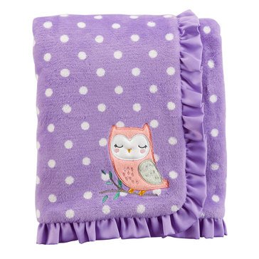 Carter's Baby Girls' Plush Blanket, Owl