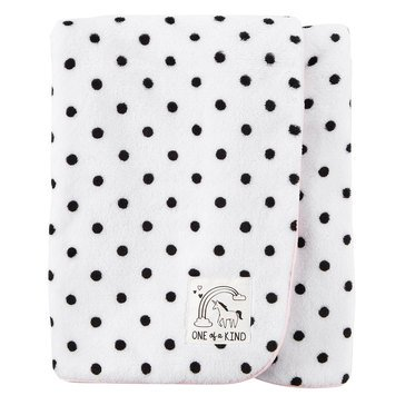 Carter's Baby Girls' Plush Blanket, Dots