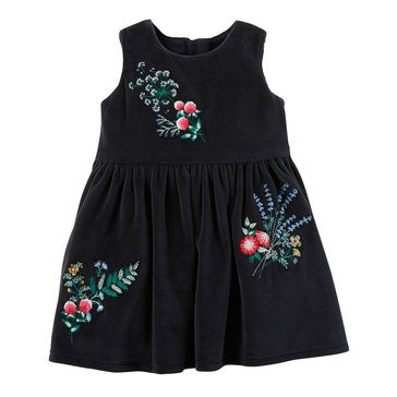 Carter's Baby Girls' Dress, Black Floral