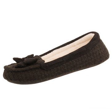 Totes Sweater Knit Emily Moccasin Black