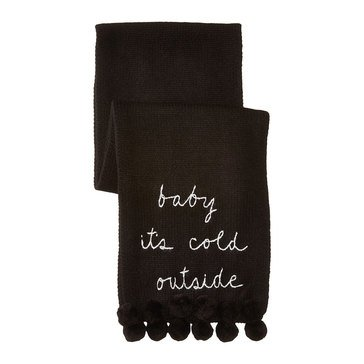 Kate Spade Baby Its Cold Outside Muffler Black
