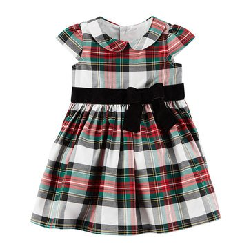 Carter's Baby Girls' Holiday Dress, Plaid