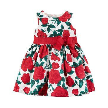Carter's Baby Girls' Holiday Dress, Ivory Floral
