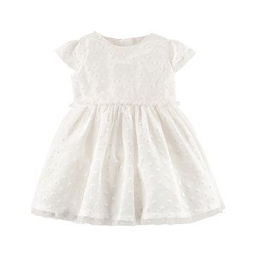Carter's Baby Girls' Holiday Dress, Ivory Dot