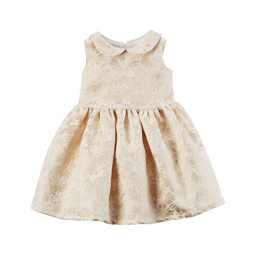 Carter's Baby Girls' Holiday Dress, Gold Ivory