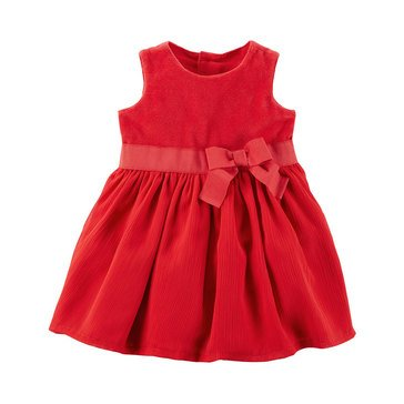 Carter's Baby Girls' Holiday Dress, Red Bow