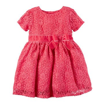 Carter's Baby Girls' Holiday Dress, Pink Lace