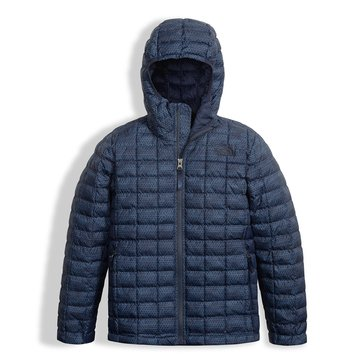 The North Face Big Boys' Thermoball Hoodie, Cosmic Blue Chain Print