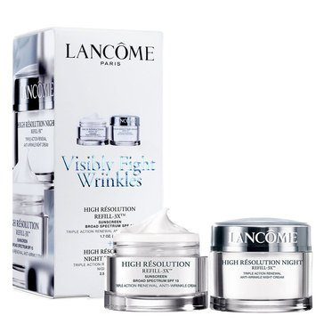 Lancome High Resolution Refill-3X Anti-Wrinkle Cream Duo Pack SPF15