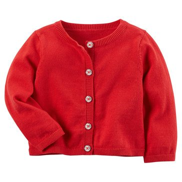 Carter's Baby Girls' Holiday Cardigan, Red