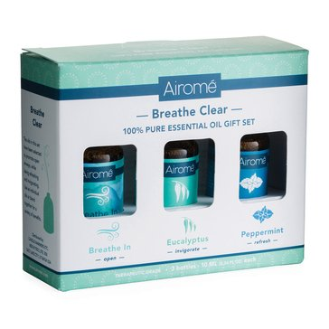 Airome Breathe-In Clear 100% Pure Essentials Oils Gift Set