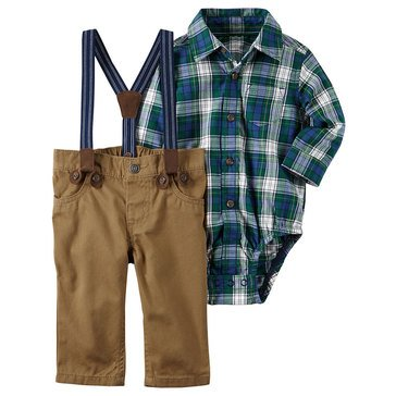 Carter's Baby Boys' Holiday 2-Piece Suspender Pant Set