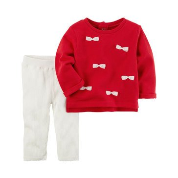 Carter's Baby Girls' 2-Piece Legging Set