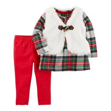 Carter's Baby Girls' 3-Piece Pant Set