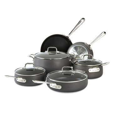 All-Clad 10-Piece Hard Anodized Cookware Set