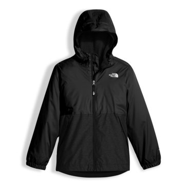 The North Face Big Boys' Warm Storm Rain Jacket, TNF Black