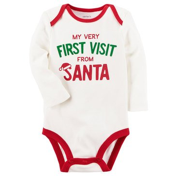 Carter's Newborn My 1st Christmas Bodysuit