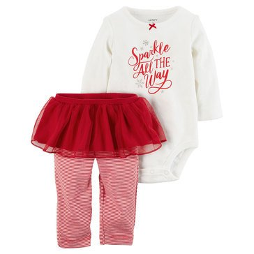 Carter's Baby Girls' Christmas Bodysuit and Tutu Set