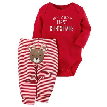 Carter's Newborn My 1st Christmas Bodysuit Pant Set