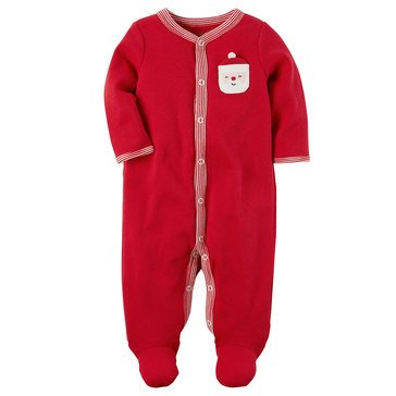 Carter's Newborn Christmas Thermal Sleep N Play, Santa