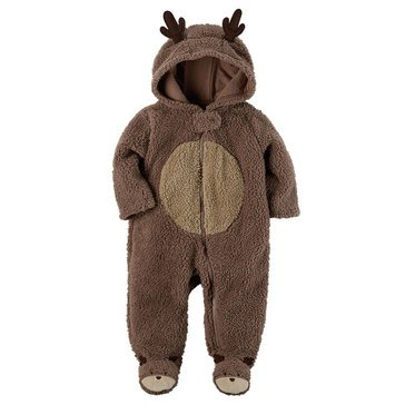 Carter's Newborn Christmas Sherpa Sleep 'N Play, Reindeer