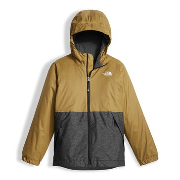 The North Face Big Boys' Warm Storm Rain Jacket, British Khaki