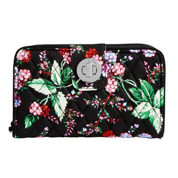 Vera Bradley Turnlock Wallet Winter Berry