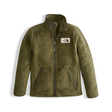 The North Face Big Boys' Sherparazo Fleece Jacket, Olive Green