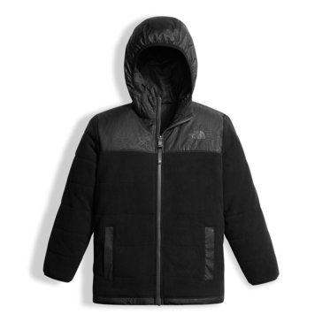 The North Face Big Boys' Reversible True or False Jacket, TNF Black w/ Topo Print