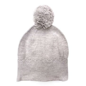 Kate Spade Scallop Beanie Heather Gray