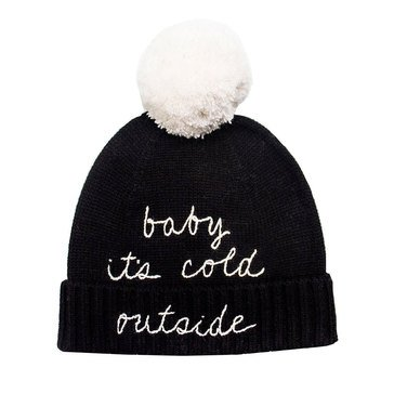 Kate Spade Baby Its Cold Outside Beanie Black