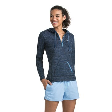 Vineyard Vines Women's Performance 1/4 Zip in Moonshine Blue