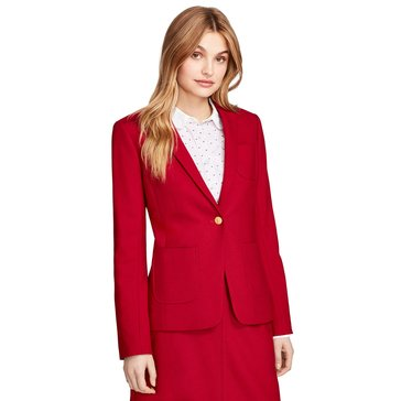 Brooks Brothers 1 Button Blazer in Red