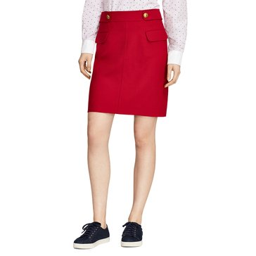 Brooks Brothers A-line Skirt in Red