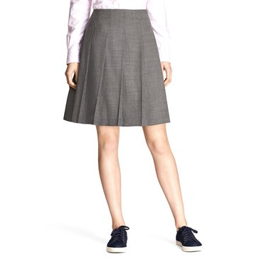 Brooks Brothers Pleated Skirt in Grey Heather
