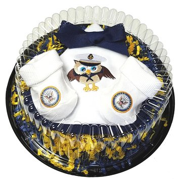Future Tailgaters Infants Piece of Cake Shower Gift Set (Includes Bib & Socks)