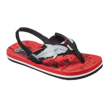 Reef Ahi Shark Girls Sandal Red Shark