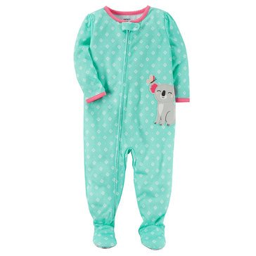 Carter's Baby Girls' Poly Pajamas, Koala