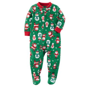 Carter's Baby Boys' Fleece Christmas Pajamas, Santa