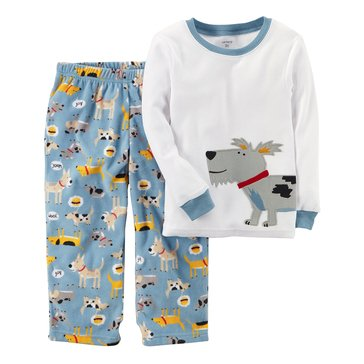 Carter's Baby Boys' 2-Piece Fleece Pajamas, Dog
