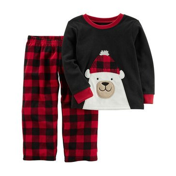 Carter's Baby Boys' 2-Piece Fleece Christmas Pajamas, Polar Bear