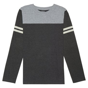 French Toast Toddler Boys' Football Tee, Heather