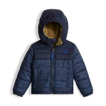 The North Face Toddler Boys' Reversible Mount Chimborazo Hoodie, Cosmic Blue Chain Print