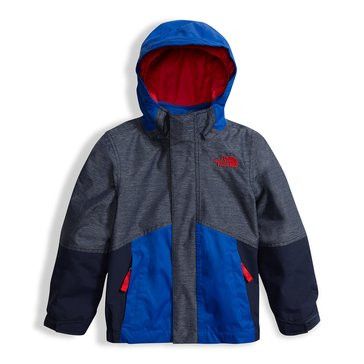 The North Face Toddler Boys' Boundary TriClimate Jacket, Cosmic Blue Heather