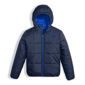 The North Face Big Boys' Reversible Perrito Jacket, Cosmic Blue