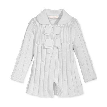 First Impressions Baby Girls' Bow Sweater Jacket
