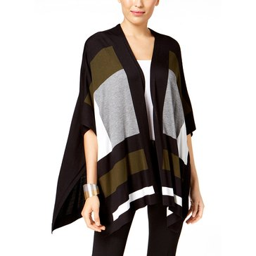 Alfani Pattern Cape in Moss